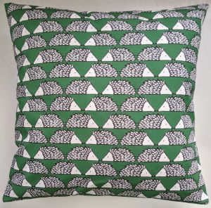 Cushion Cover in Scion Little Spike the Hedgehog Green (1)